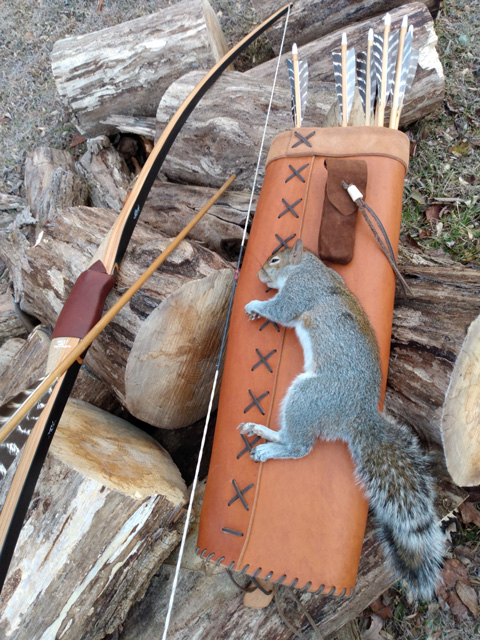 Longbow squirrel hunt