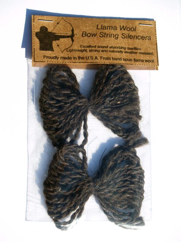 Llama Wool Bow String Silencers